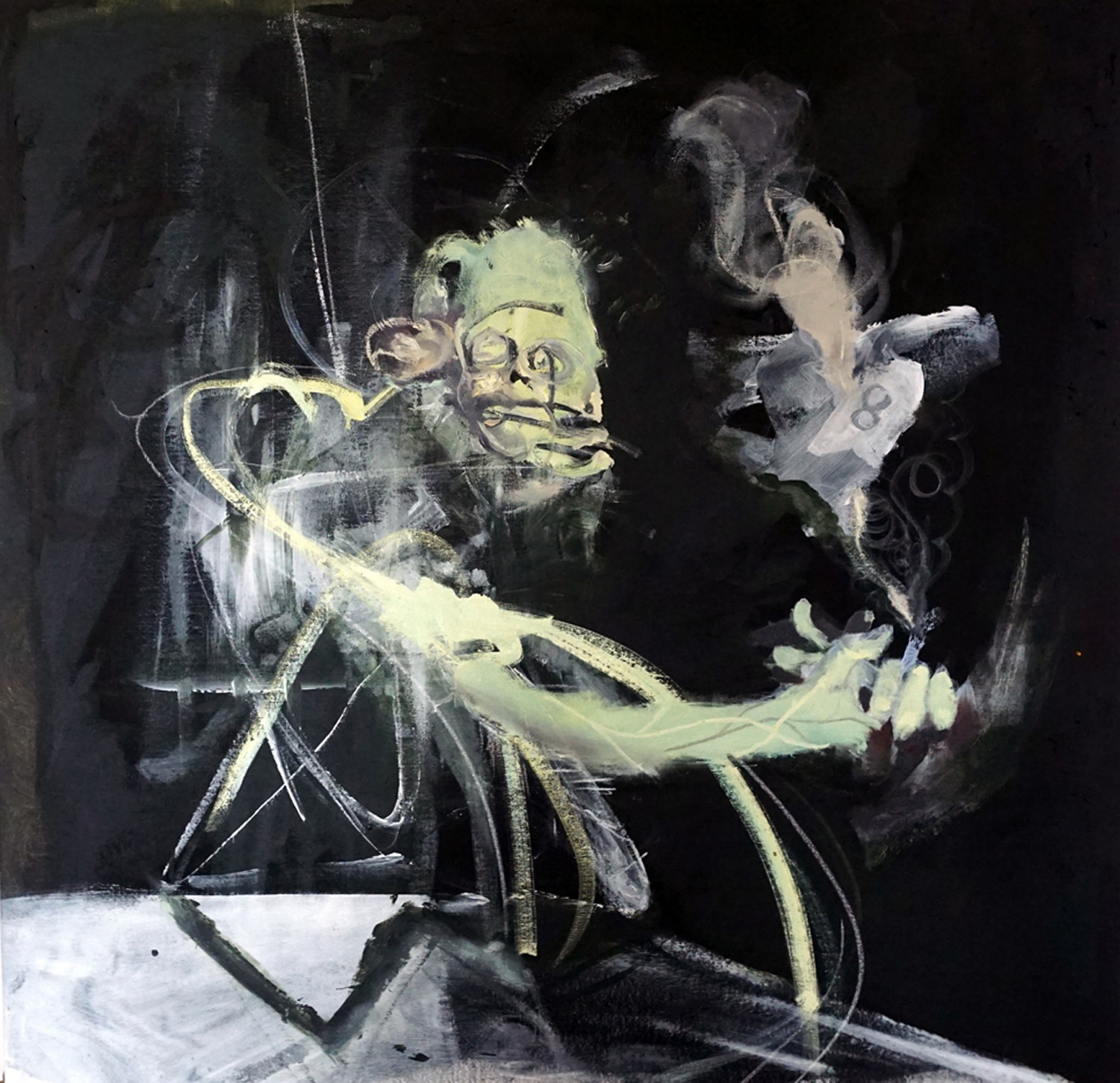 yair-perez-smoker-2015-acrylic-and-oil-on-canvas-90x89-cm-copy